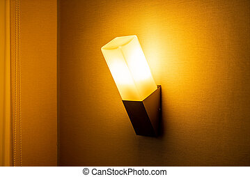 light lamp on wall