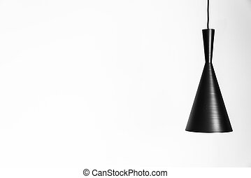 Light lamp on white wall