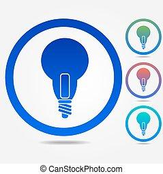 Light lamp sign icon