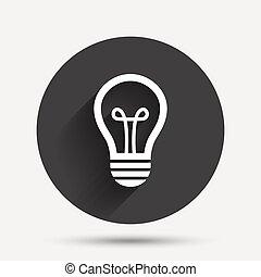 Light lamp sign icon. Idea symbol.