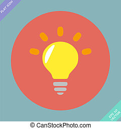 Light lamp sign icon. Idea symbol - vector