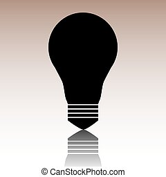 Light lamp sign icon. Idea symbol. Vector illustration
