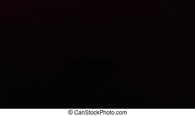 Light laser projector shining in nightclub - Modern ...