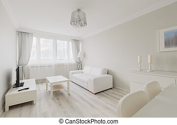 Light living room - Image of light living room in simple new...