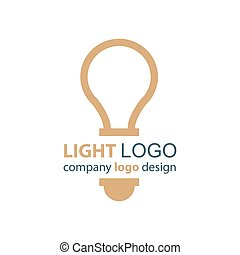 light logo brown design