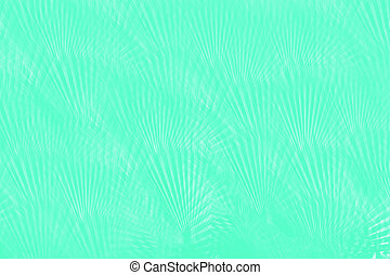 Light mint green abstract background with palm leaves pattern