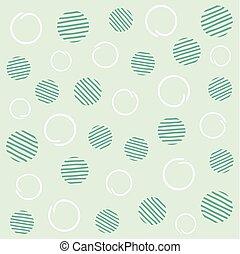 Light mint seamless polka dots pattern. Vector illustration