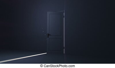 light., niebo, drzwi, otwarcie