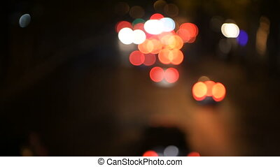 Light night colorful bokeh blur art abstract background....