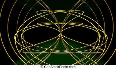 light., noir, conçu, sphérique, spatial, or, tourner, corps...
