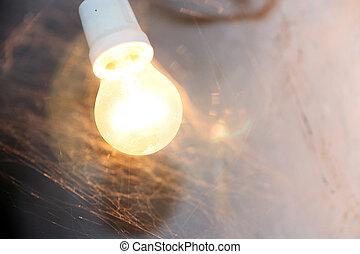 light of a lamp