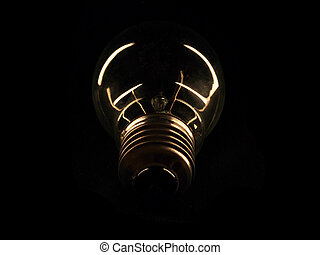 light on a dark background