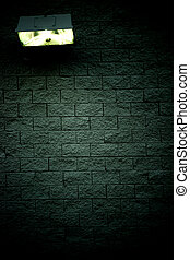 Light on the dark wall