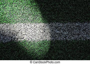 Light on the grass football field.