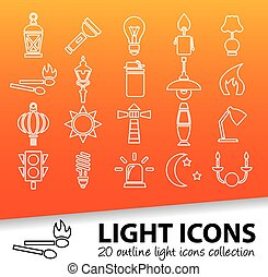 light outline icons