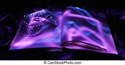 light painted book and mask 1