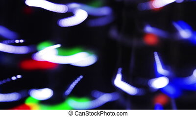 light painting clip disco pattern made from blured lights and camera movement on long exposures