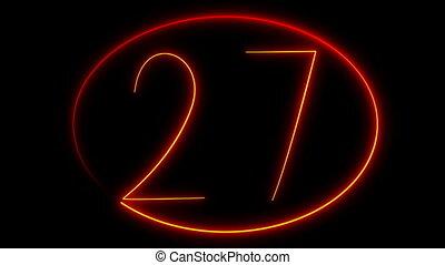 light painting countdown