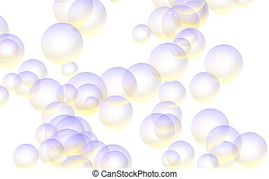 Light Pastel Colored Background With Green Bubbles Wallpaper Texture With Bubbles