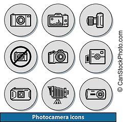 Light photocamera icons