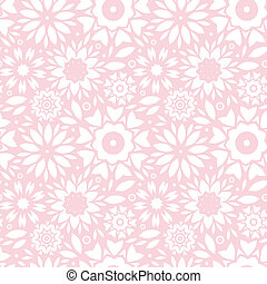 Light pink abstract flowers seamless pattern background