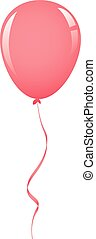light pink balloon ribbon