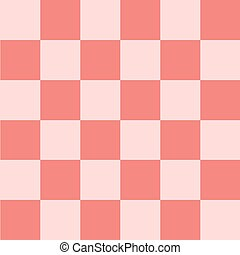 Light Pink Coral Chess Board Background