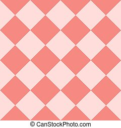 Light Pink Coral Chess Board Diamond Background