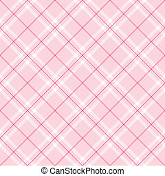 Light pink plaid with dark pink and white stripes