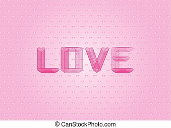 Light Pink vector layout with sweet hearts. Illustration with hearts in love concept for valentine's day