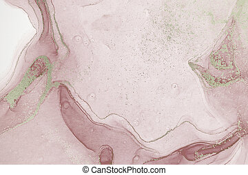 Light pink watercolor background. Artwork ink texture.