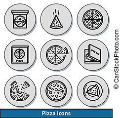 Light pizza icons
