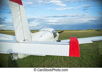 light plane on airport