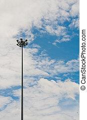 Light pole on sky
