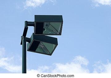 light post on sky background - light post on beautiful sky...