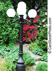 light post around the gardens