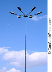 Light Post on blue sky