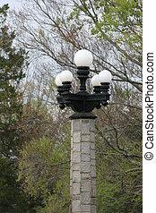 Light Post - Vintage light post in park setting