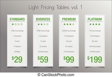 Light pricing banners - white