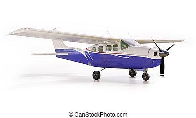 Light private plane - 3d render: small tourist plane...