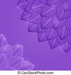 Light Purple Flower Silhouette Card