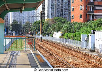 Light Rail in Tuen Mun Hong Kong