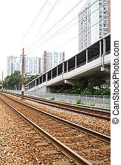 Light rail. It is a kind of transportation in Hong Kong area.