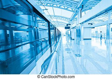 Light Rail Station - Modern Architecture of light rail...
