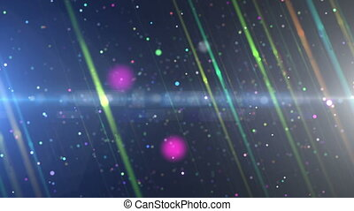 light ray particle color in space
