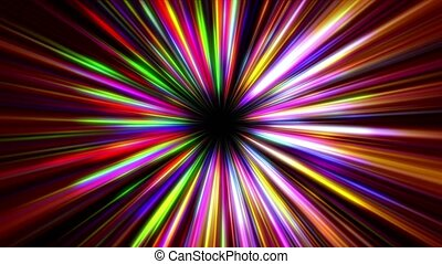 light ray star color abstract motion 4k