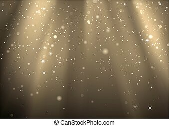 Light Rays And Light Dust - Background Illustration, Vector