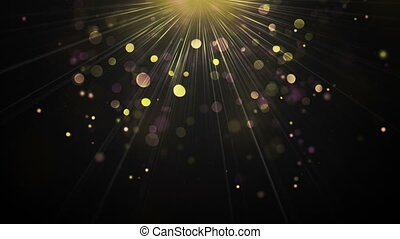 Light rays and particles loopable background - Light rays...