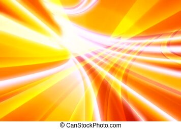Light Rays in Orange and Yellow