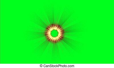 Light rays on green screen